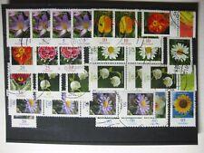 BRD 2005 / 06, Lot Blumen, 5 ,10, 20, 25, 45, 50, 58, 90, 95 Cent, gestempelt +