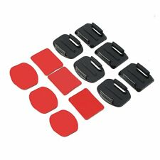 12Pcs Helmet Accessories Flat Curved Adhesive Mount For Gopro Hero 1/2/3 /3+ SP