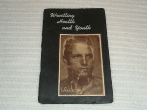 1943 Ede Virag SIGNED Wrestling Health and Youth Book NWA Champion Rare