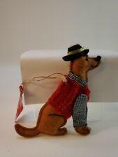 Target Wondershop Retro Felt Poodle Dog Christmas Ornament Holiday Sweater Hat