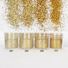 10ml Ultra-thin Glitter Powder Champagne Gold Manicure Nail Art Decoration Tips