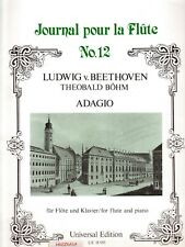 Adagio by Beethoven, Arr. by Bohm, for Flute & Piano, New Music Book.