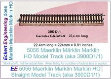 EE 5056 VG Marklin HO Straight Model Track 3900A1/1 Very Good Condition, 1 Piece