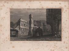 """India/Antiguo Impresiones - """"excavado templo de kylas"""" - dibujado por la capitana Elliot (1840)"""