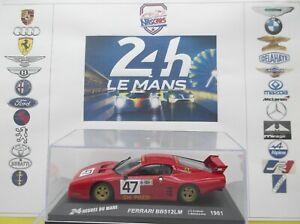 1/43 24h du Mans 1981 Ferrari 512BB LM #47 Andruet/Ballot-Léna/Regout Altaya/IXO