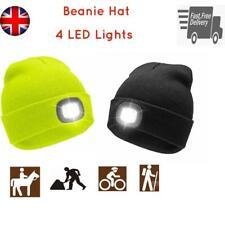 Unisex LED Beanie Hat Warm Battery Powered Head Lamp Light Work Bike Winter