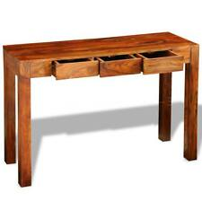 Solid Sheesham Wood Console Table Cabinet Sideboard with 3 Drawers 80 cm C0J1