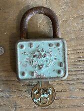 Vintage Master Lock, Turquoise #5944 With Key- Works!