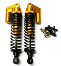 1/10 Scale RC Nitro Buggy Alloy Adjustable Shock Absorber Damper x2 Yellow 100mm
