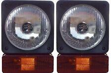 Head Lamp/ Head Light + Indicator Assy. JCB and Johndeer- 12V (Set of 2)