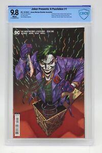Joker Presents A Puzzlebox (2021) #1 Merino 1 In 25 CBCS 9.8 Blue Lbl White Pgs