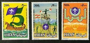 LEBANON Sc#475-477  Scouting Mint NH OG GEM (15-114)