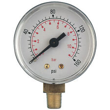 Pressure Gauge 100mm 0 - 14Bar/200psi G3/8bspt Stem