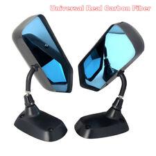 F1 Style 100%  Carbon Fiber Blue Mirror Metal Bracket Side Mirror Racing Drift