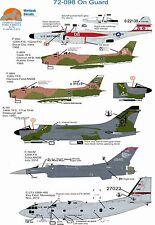 Wolfpak Decals 72-098 On Gaurd Northrop f-89 Alenia Spartan F-86 Sabre Lockeed