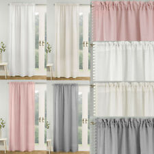 Tahiti Voile Panel Pom Pom Edging. Choice of Colours & Sizes
