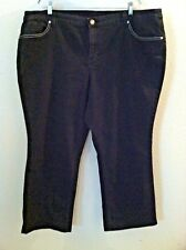 24W black jean rhinestone sequin pocket stretch denim CJ Banks size