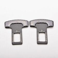 2 X Carbon Fiber Universal Car Safety Seat Belt Buckle Alarm Stopper Clip Clamp