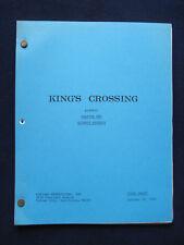 ORIGINAL KING'S CROSSING, TV SCRIPT 'GHOSTS' BRADFORD DILLMAN'S Copy with Notes