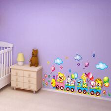 Hot Removable Cartoon Animals Beer Train Wall Sticker Kid's Bedroom Home Decor