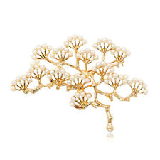 Fashion Imitation Pearl Pine Tree Brooch Pin Clothing Decoration Women Gifts