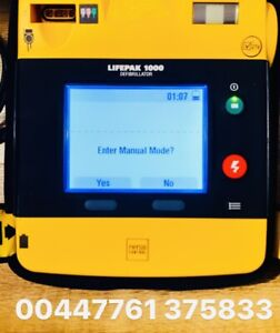Lifepak 1000 Physio Control. AED. Ambulance Equipment. With Battery & Carry Case