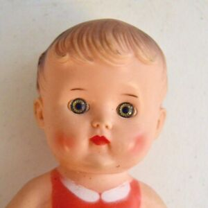 Vtg. SUN RUBBER DOLL SQUEAK TOY BABY IN BATHING SUIT.