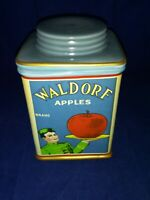 Vintage Labels Canister Waldorf Apples Jar Storage Sakura Oneida Stoneware