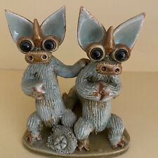 A PAIR OF DRAGONS🐉 Made By Yare Pottery💚 (Twins/ Friends/Lovers)