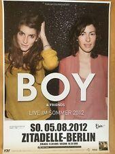 BOY - STEINER GLASS 2012 BERLIN  - orig.Concert Poster - Konzert Plakat  NEU
