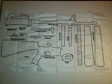 M16A2 Cloth Disassembly Layout Chart Field Stripped M16 A2 Rifle Army Gun