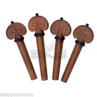 New High Quality Jujubewood Violin Tuning Pegs 4/4 Size Fiddle Violin Parts (#5)