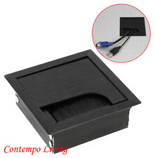 """Computer Desk Table TV Cabinet 3-3/16"""" Square Wire Cable Grommet Hole Top Cover"""