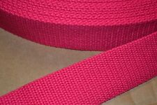 10 Yard Roll 1 1/2 inch Heavy Cotton Webbing Dark Pink Free Shipping!