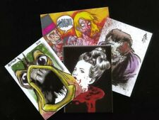 MONSTERS, ZOMBIES & FREAKS (Cult-Stuff/2011) MINI-CHASE GUTTER CARD SET (ALL 4)