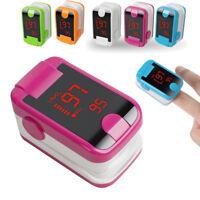 Home Hospital LED Finger Pulse Oximeter Blood Oxygen SPO2 Heart Rate O2 Monitor