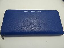 Marc by Marc Jacobs Unisex Continental Slim Zip Around Wallet SKipper Blue $198