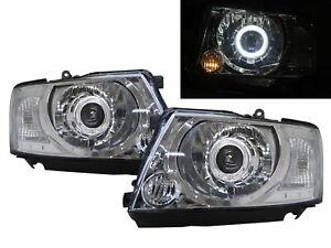 Patrol GU4 Y61 MK5 04-ON Guide LED Angel-Eye Headlight Chrome for NISSAN RHD