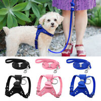 Rhinestone Dog Harness&Leads Suede Pet Puppy Vest for Small Medium Dog Chihuahua
