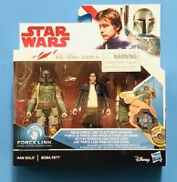 Star Wars NEW * Han Solo & Boba Fett * Force Link 3.75-Inch Action Figure Toy