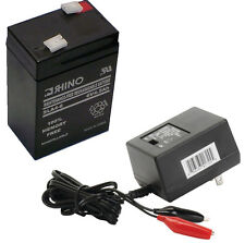 6 Volt 6v 4.5ah Rechargeable Deer Game Feeder Battery With CHARGER