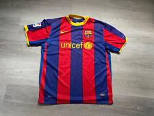 FC BARCELONA NIKE MENS SHORT SLEEVE 2010/2011 HOME SHIRT JERSEY - SIZE LARGE