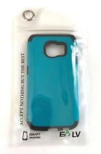 Galaxy S6 Edge Smart Phone Case Blue/Black E LV Shock Proof Defender Slim Case