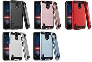 For Nokia 3.1 A / 3.1 C TA-1140 TA-1141 Metallic Slim Brush Hybrid Case Cover