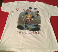 Queen Innuendo Shirt White Size Large Freddie Mercury
