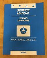1988 Service Manual - Wiring Diagrams - Front Wheel Drive Car - Chrysler Corp