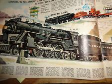 LIONEL O GAUGE # 11278 TRAIN SET/ # 2037 LOCO & TENDER W/5 FREIGHT CARS & TRANS