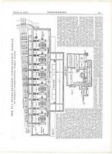 1909 Engineering 2 Antique Prints - TYA Hydro-Electric Power Station, Norway
