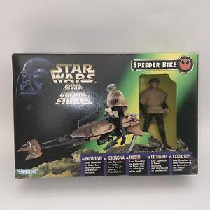 1996 Kenner Star Wars POTF Speeder Bike & Luke Skywalker Figure SEALED BOX