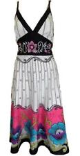 PISTACHIO EMBROIDERED PINK FLORAL COTTON CASUAL BEACH SUMMER DRESS M 10/12 #90